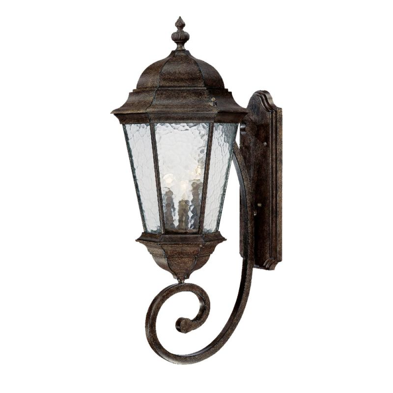 Acclaim lighting 5521bc black coral telfair 3 light for Height of sconces