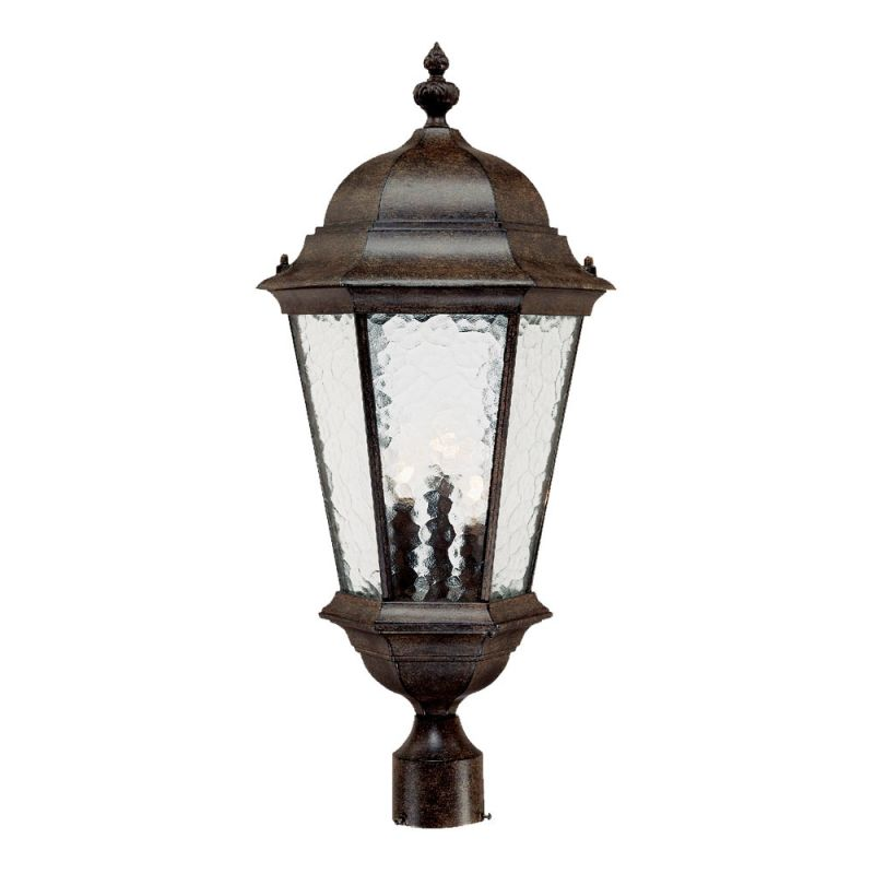 "Acclaim Lighting 5527 Telfair 3 Light 27"" Height Post Light Black"