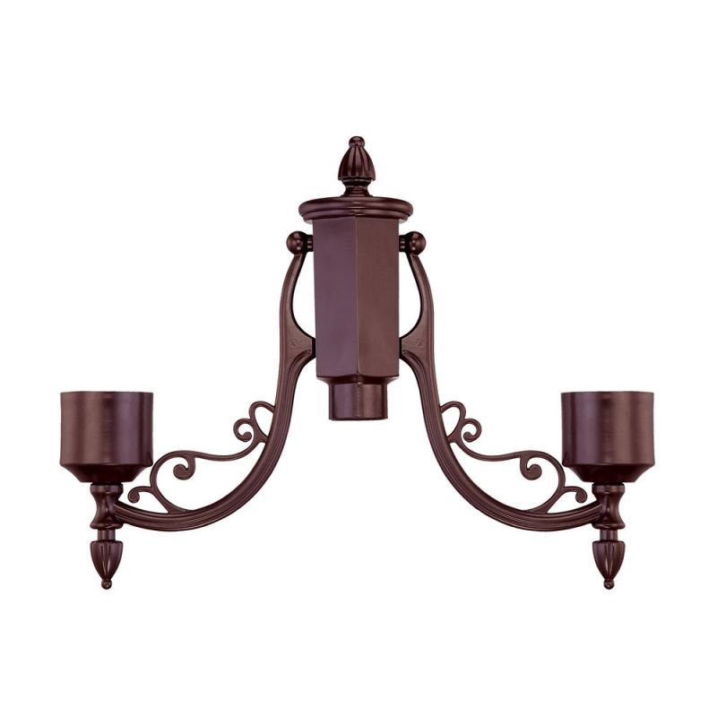 Acclaim Lighting 7096 2 Head Post Adapter Architectural Bronze Outdoor