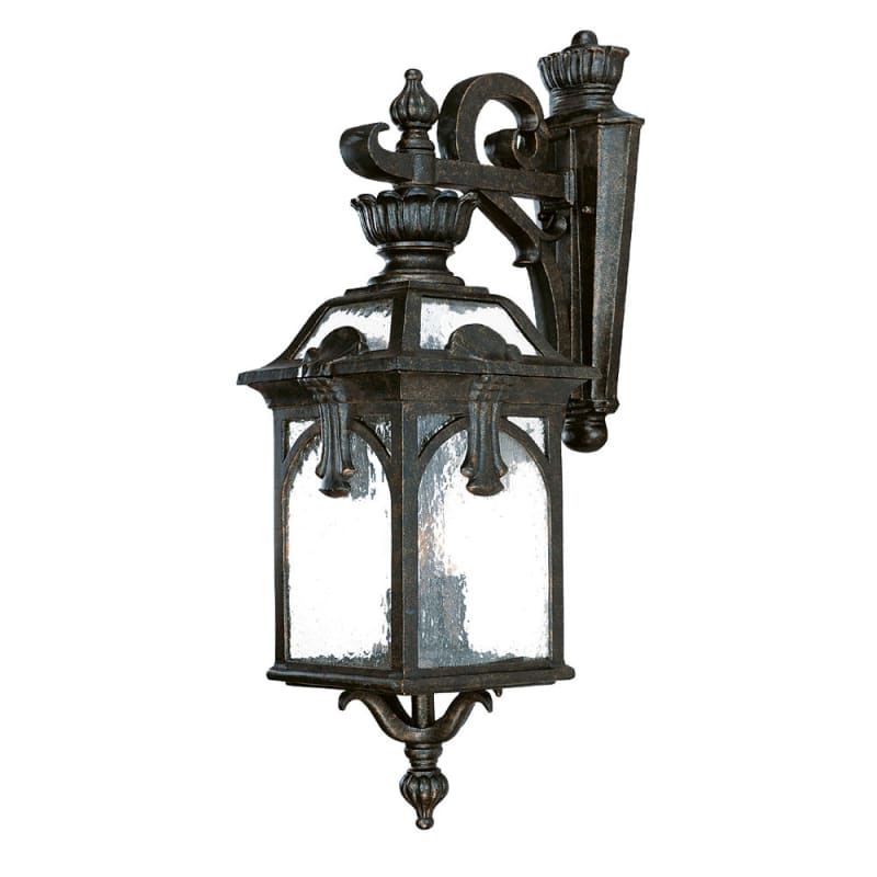 Exterior Wall Sconce Mounting Height : Acclaim Lighting 7112BG Black Gold Belmont 3 Light 26.5