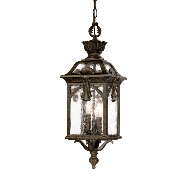 "Acclaim Lighting 7116 Belmont 3 Light 23"" Height Outdoor Pendant Black"