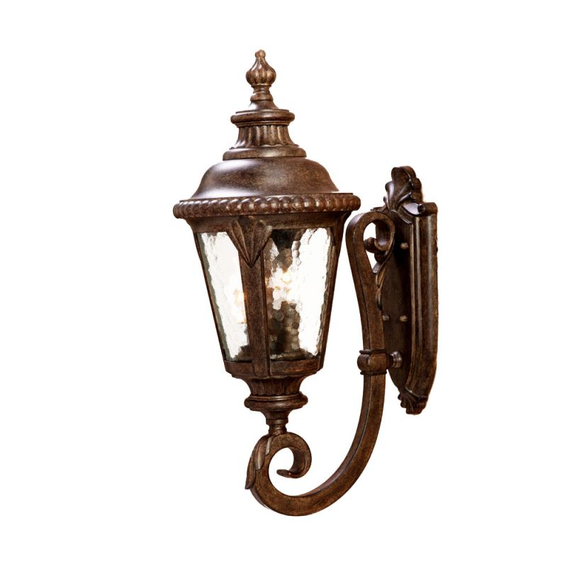 Acclaim lighting 7211bc black coral surrey 3 light 24 5 for Height of sconces