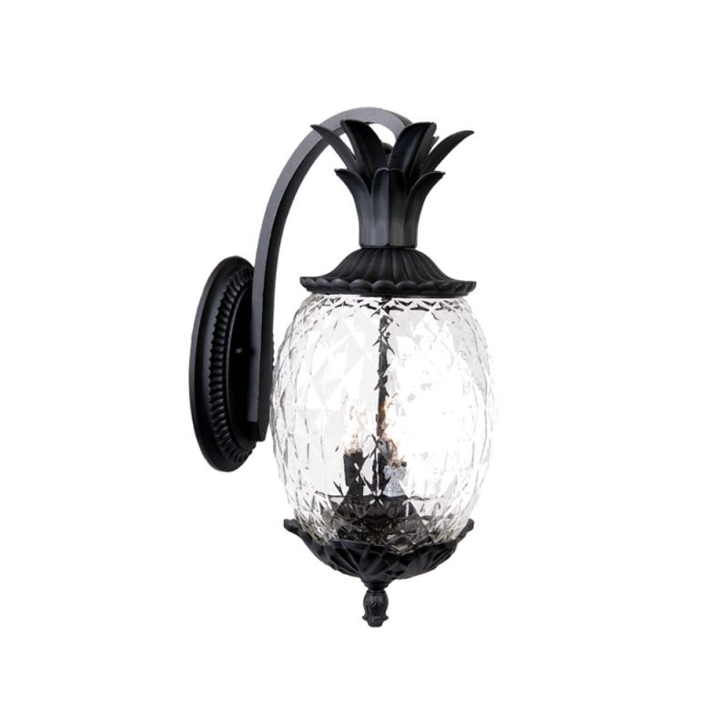 Acclaim lighting 7512bk matte black 3 light height pineapple outdoor wall sconce from the for Pineapple exterior light fixtures