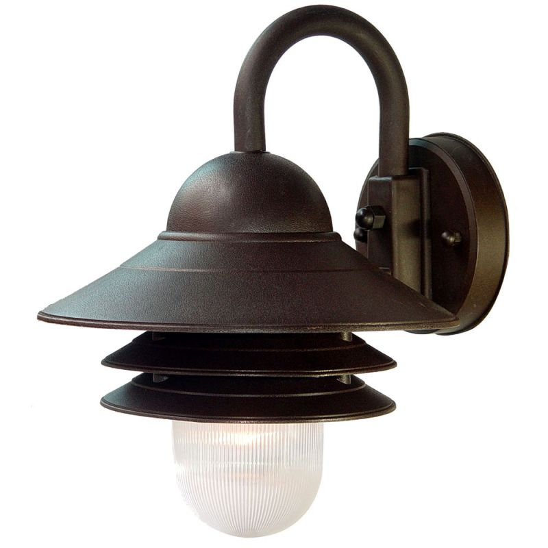 Mounting Height For Exterior Wall Sconces : Acclaim Lighting 82ABZ Architectural Bronze Mariner 1 Light 13