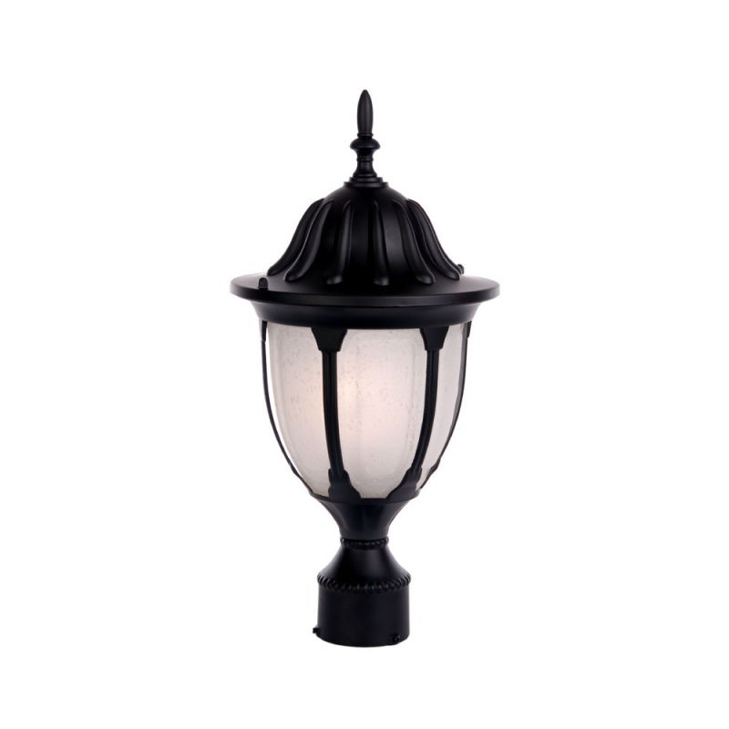 Acclaim Lighting 5067 Suffolk 1 Light Post Lamp with Clear Seeded Sale $64.00 ITEM: bci2070353 ID#:5067BK/FR UPC: 878925000685 :