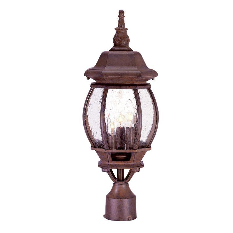 "Acclaim Lighting 5171 Chateau 3 Light 21"" Height Post Light Burled"