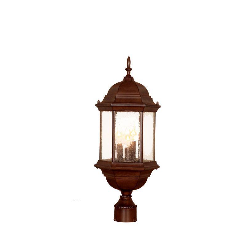 "Acclaim Lighting 5187 Madison 3 Light 25"" Height Post Light Burled"