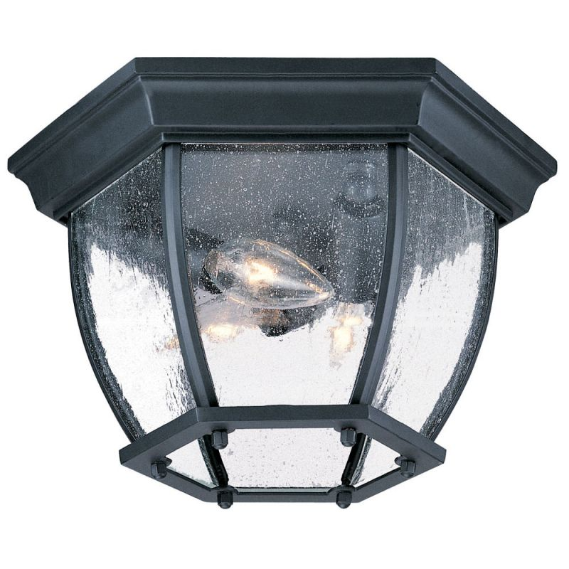 Acclaim Lighting 5602BK SD Matte Black Clear Seeded