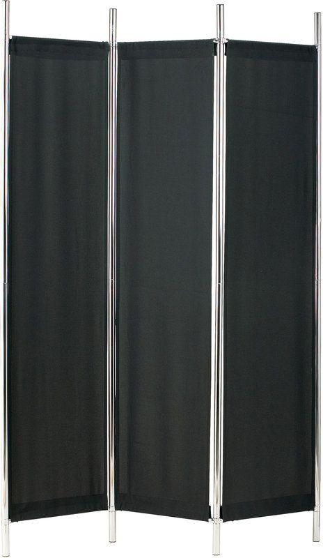 Adesso HX1111-01 Rita Folding Screen Black/Chrome Home Decor Room
