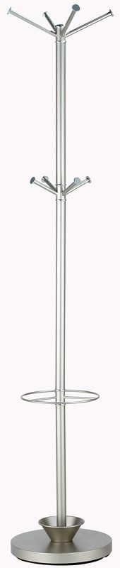 Adesso WK2048-22 Quatro Umbrella Stand /Coat Rack Champagne Steel