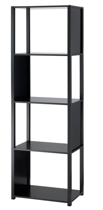 Adesso WK2325-01 Hyde 5 Shelf Unit Black Home Decor Magazine Racks