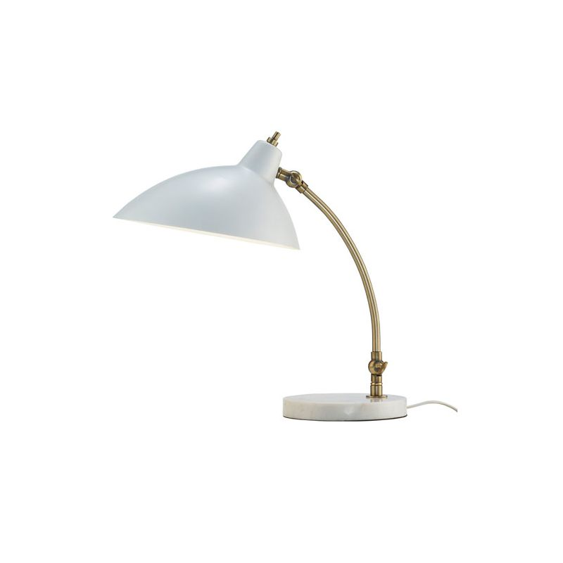 "Adesso 3168 Peggy 1 Light 62.5"" Tall Arc Desk Lamp with Metal Oval"