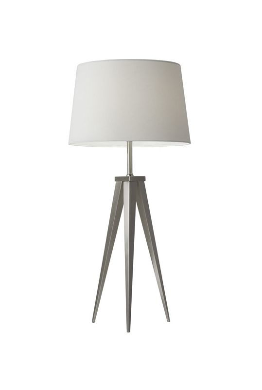 """Adesso 3263 Producer 1 Light 56"""" Tall Tripod Table Lamp with Fabric"""
