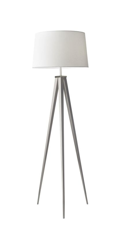 """Adesso 3264 Producer 1 Light 29.5"""" Tall Tripod Floor Lamp with Fabric"""