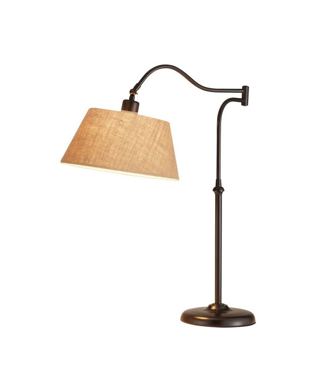 "Adesso 3348 Rodeo 1 Light 20.5"" Tall Swing Arm Desk Lamp with Burlap"