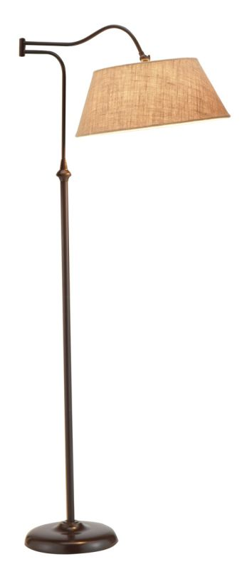 "Adesso 3349 Rodeo 1 Light 20.5"" Tall Swing Arm Floor Lamp with Burlap"