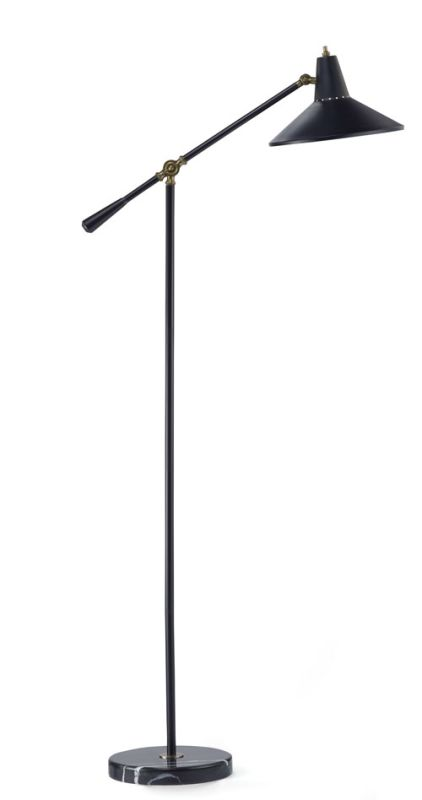 "Adesso 3682 Nelson 1 Light 63"" Tall Boom Arm Floor Lamp with Metal"