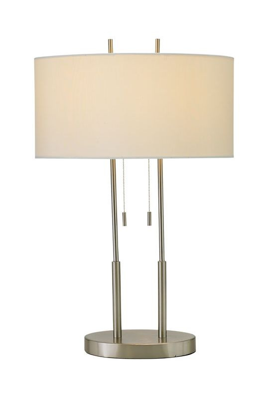 "Adesso 4015 Duet 2 Light 59"" Tall Buffet Table Lamp with Silk Oval"