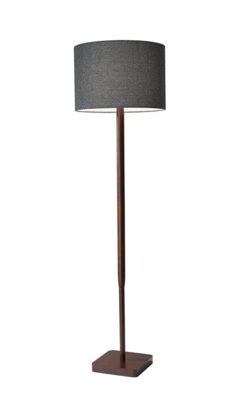 "Adesso 4093 Ellis 1 Light 24.5"" Tall Floor Lamp with Fabric Shade"