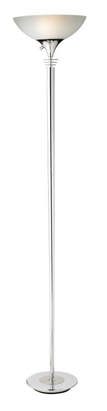 "Adesso 5120 Metropolis 2 Light 27"" Tall Torchiere Floor Lamp with"