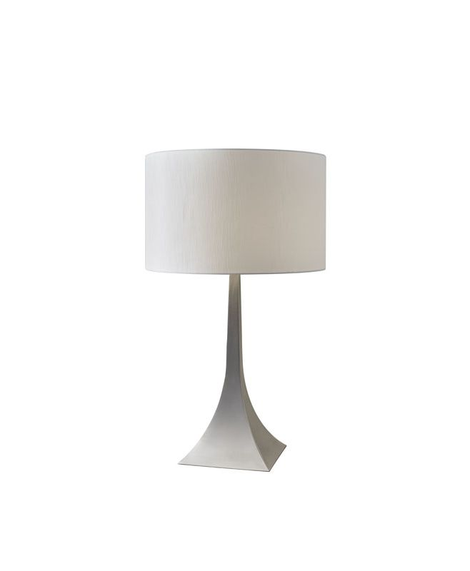 """Adesso 6364 Luxor 1 Light 72"""" Tall Buffet Table Lamp with Fabric Drum"""