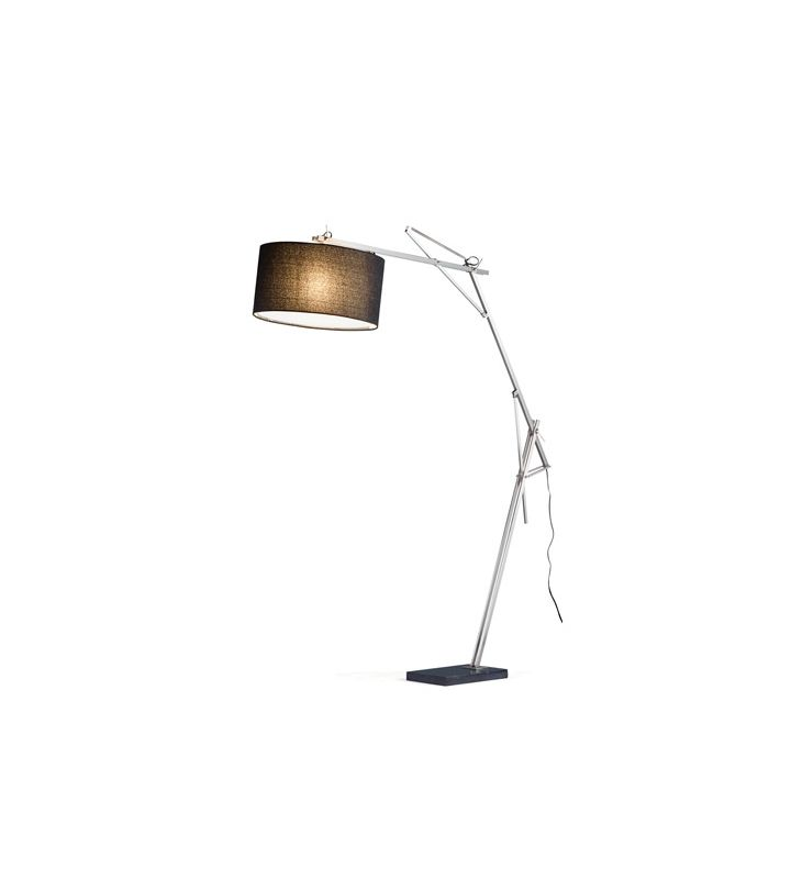 Adesso 5272-22 1 Light Arc Lamp Satin Steel Lamps Floor Lamp