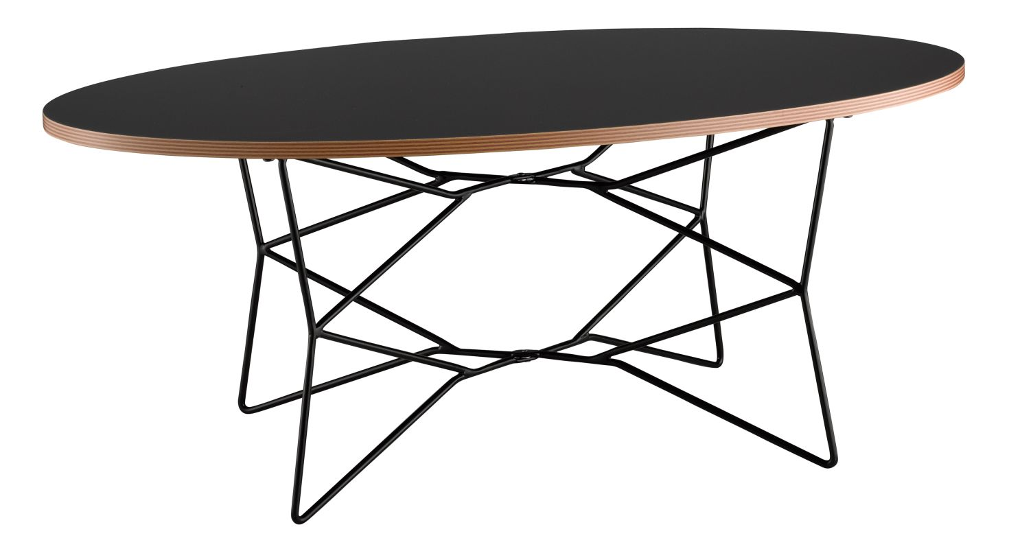 Adesso WK2273-01 Network Coffee Table Black Furniture Coffee Tables