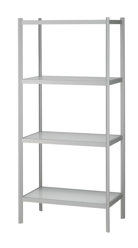 Adesso WK2314-02 Aspen Four Shelf Unit White / Light Grey Furniture