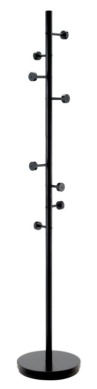 Adesso WK2030 Adesso Swizzle Coat Rack Black Furniture