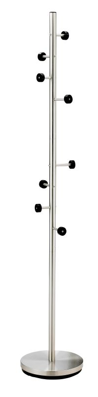 Adesso WK2030 Adesso Swizzle Coat Rack Satin Steel Furniture