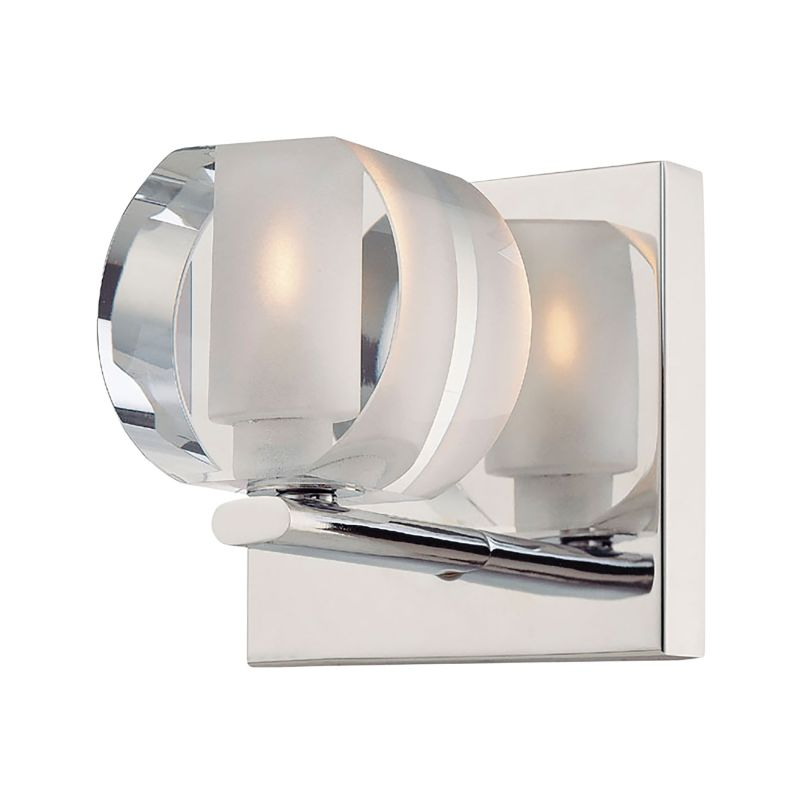 Alico BV301-90-15 Single Light Bathroom Sconce with Polished Clear