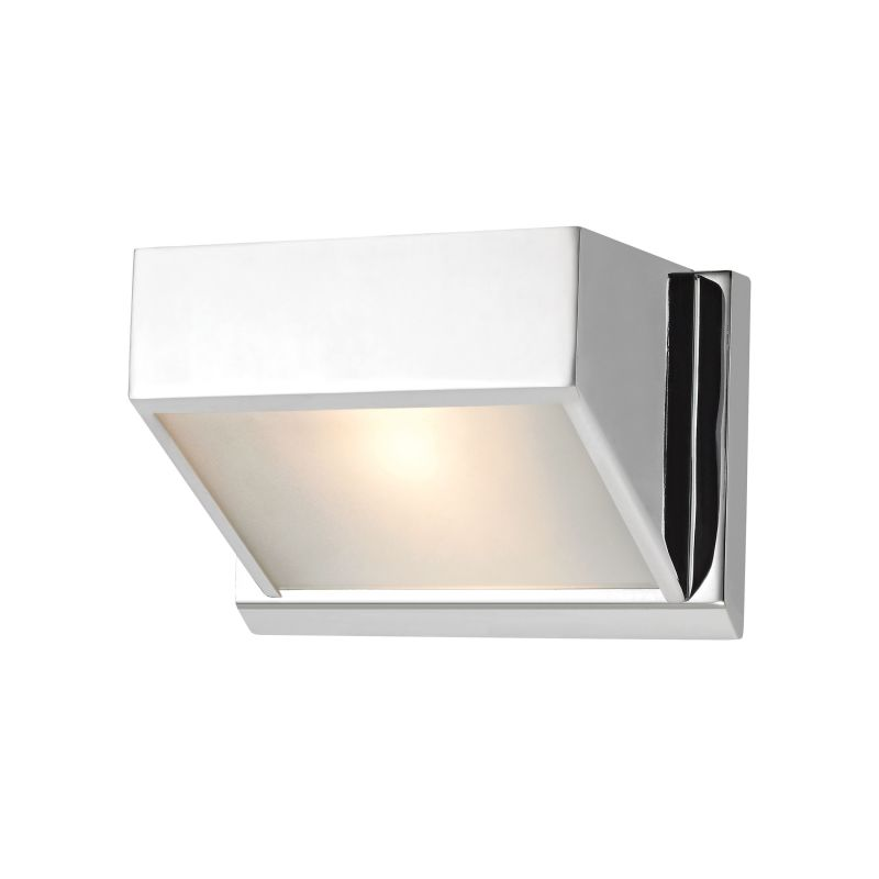 Alico BV351-5-15 Single Light Bathroom Sconce with Frosted Glass