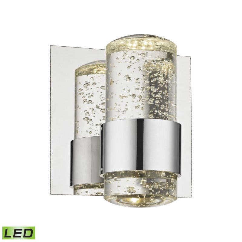 Alico BVL151-0-15 Integrated LED Bathroom Sconce with Clear Bubbled