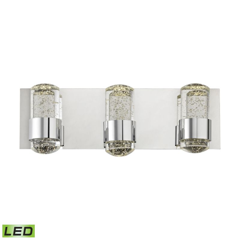 Alico BVL153-0-15 Integrated LED Vanity Strip with Clear Bubbled Glass