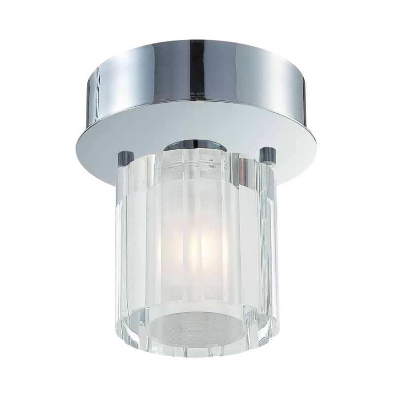 Alico FM3001-0-15 Single Light Flush Mount with Clear Crystal Glass