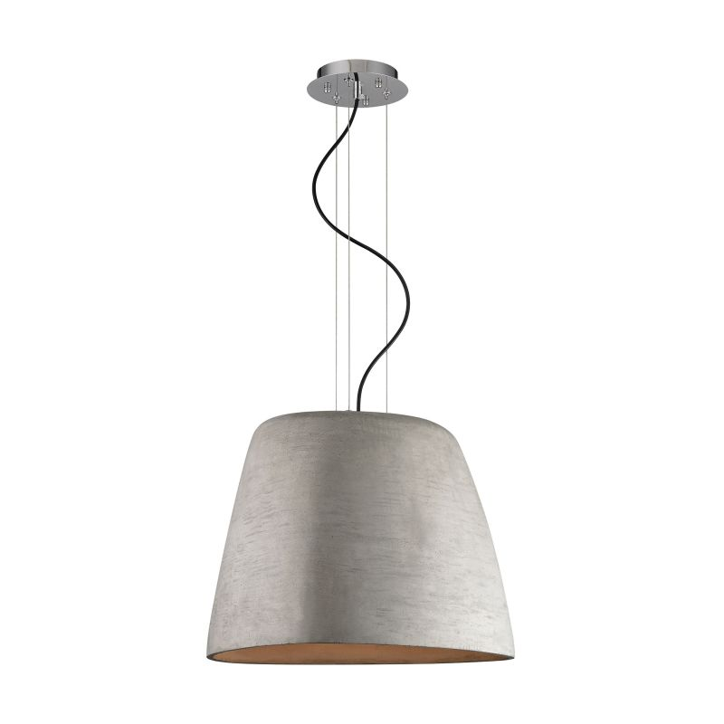 Alico LC200-140-15 Single Light Full Sized Pendant with Concrete Shade
