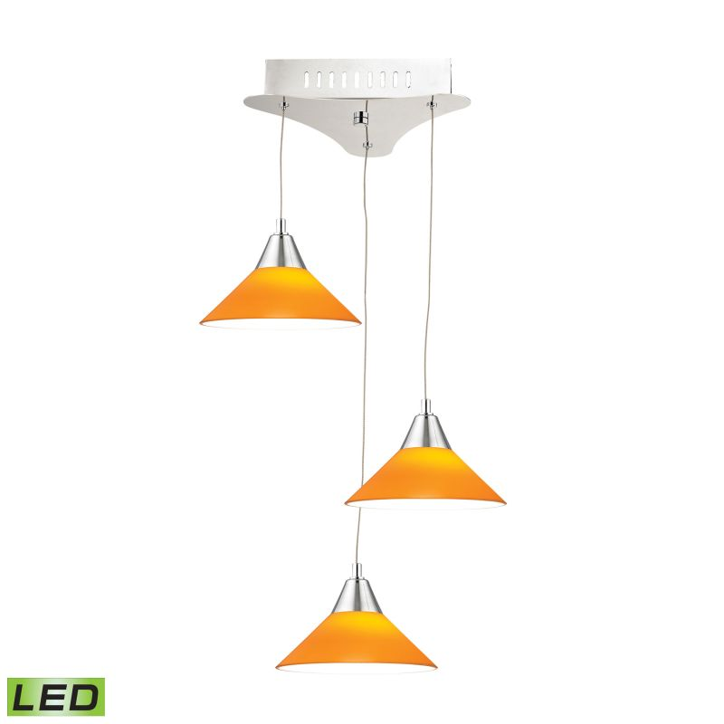 Alico LCA103-8 Integrated LED Full Sized Pendant with Yellow Glass