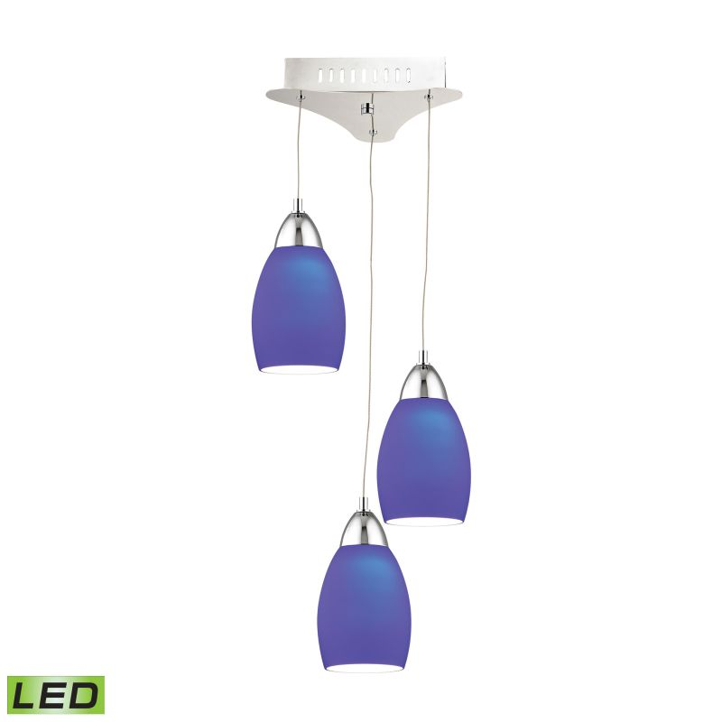 Alico LCA203-7 Integrated LED Mini Pendant with Blue Glass Shade from
