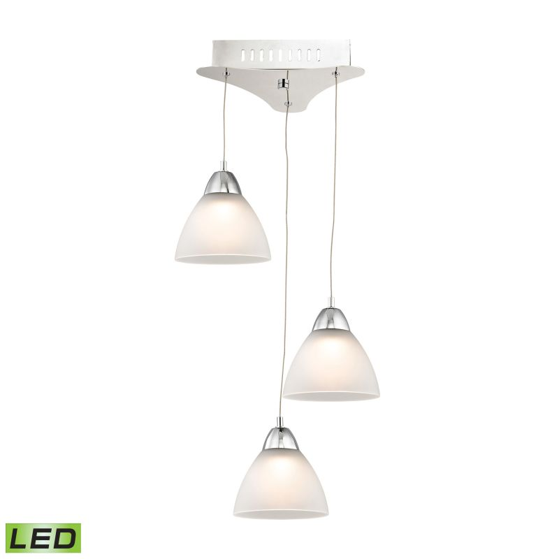Alico LCA303-10 Integrated LED Full Sized Pendant with White Glass