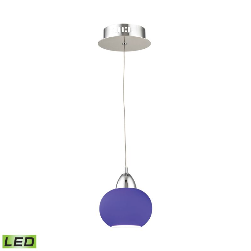 Alico LCA401-7 Integrated LED Mini Pendant with Blue Glass Shade from