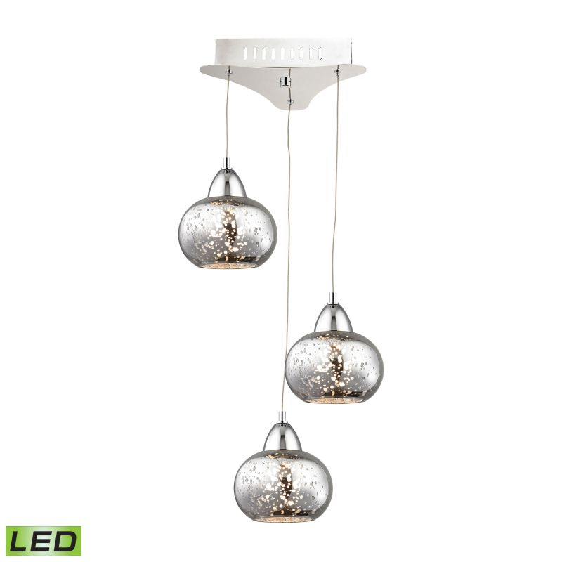 Alico LCA403-113 Integrated LED Full Sized Pendant with Mercury Glass