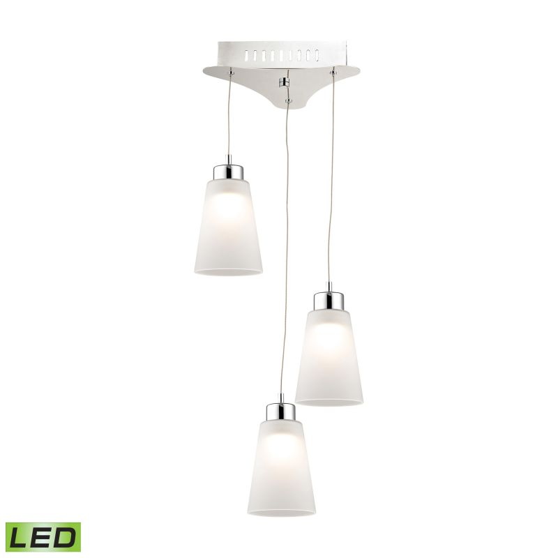 Alico LCA503-10 Integrated LED Full Sized Pendant with White Glass