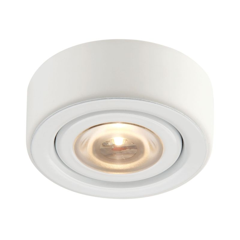 "Alico MLE-101 Eco 2"" Integrated LED Under Cabinet Puck Light White"
