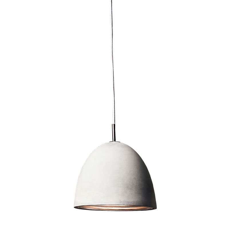 Alico PS4701-140-15 Single Light Mini Pendant with Cement Shade from