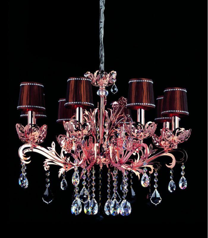 Allegri 10035 Salieri 8 Light Single Tier Chandelier Rose Gold / 24K Sale $3122.00 ITEM: bci2254491 ID#:10035-012-SE000-SA126 UPC: 720062011812 :