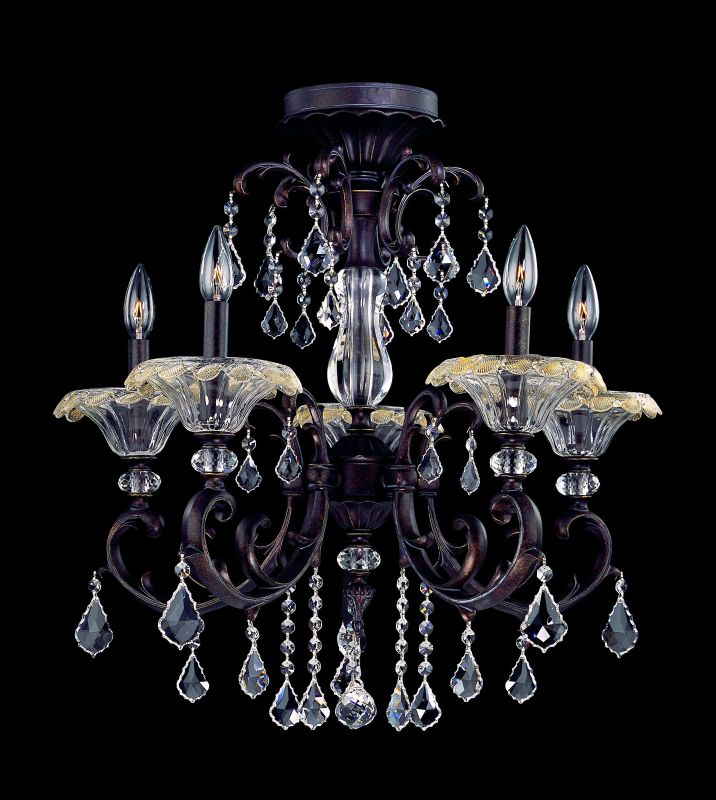 Allegri 10210 Praetorius 5 Light Semi Flush Ceiling Fixture Sienna