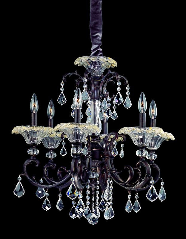 Allegri 10217 Praetorius 6 Light Single Tier Chandelier Sienna Bronze