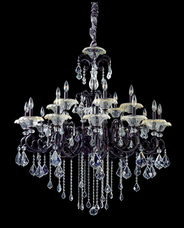 Allegri 10218 Praetorius 18 Light Two Tier Chandelier Sienna Bronze