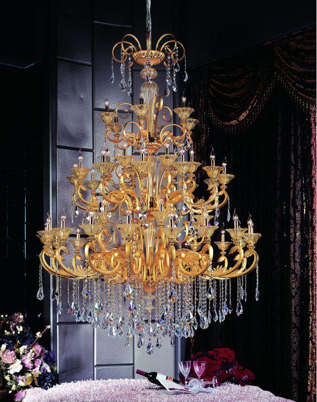 Allegri 10456 Legrenzi 48 Light Three Tier Chandelier Two-Tone Gold /