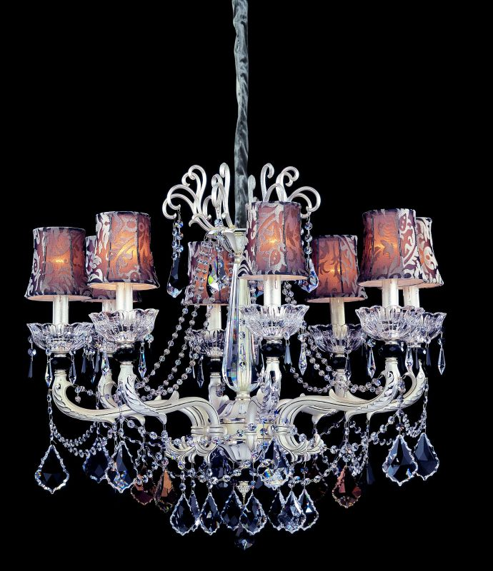 Allegri 10467 Campra 8 Light Single Tier Chandelier Two-Tone Silver Sale $3750.00 ITEM: bci2254614 ID#:10467-017-FR000-SA100 UPC: 720062018538 :